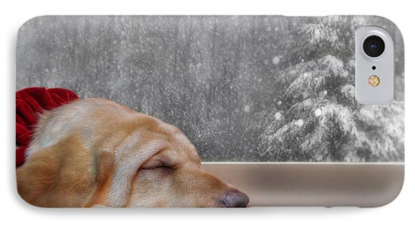 Dreamin' Of A White Christmas 2 IPhone Case by Lori Deiter