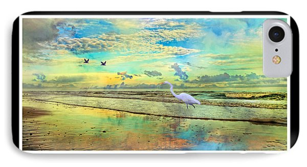 Dreaming Along The Coast -- Egret  IPhone Case by Betsy Knapp