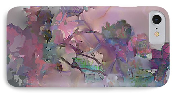 IPhone Case featuring the digital art Dreaming Of A Rose Garden by Ursula Freer
