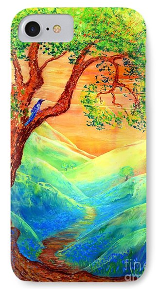 Dreaming Of Bluebells IPhone 7 Case by Jane Small