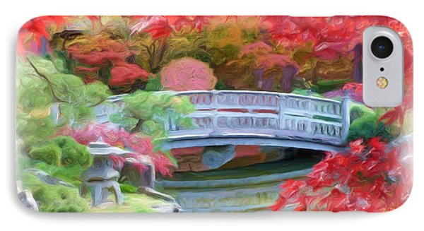 Dreaming Of Fall Bridge In Manito Park Phone Case by Carol Groenen