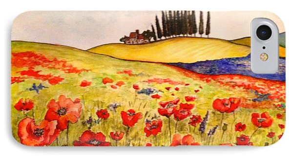 IPhone Case featuring the painting Dreaming Of Tuscany by Rae Chichilnitsky