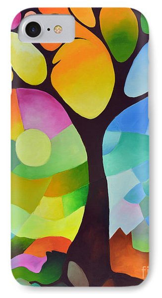 Dreaming Tree IPhone Case by Sally Trace