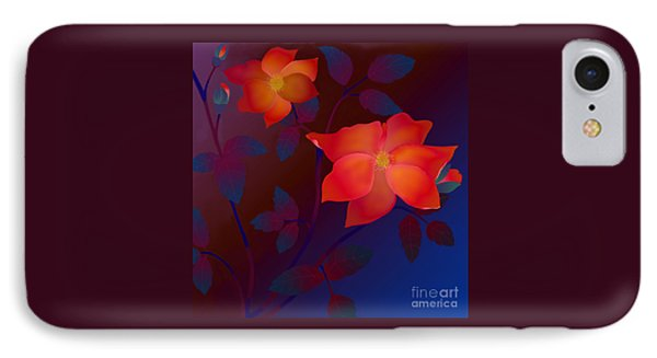IPhone Case featuring the digital art Dreaming Wild Roses by Latha Gokuldas Panicker