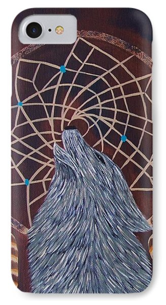 Dreaming Wolf IPhone Case