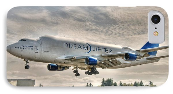 IPhone Case featuring the photograph Dreamlifter Landing 1 by Jeff Cook