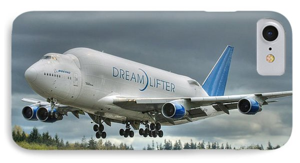 IPhone Case featuring the photograph Dreamlifter Landing 2 by Jeff Cook