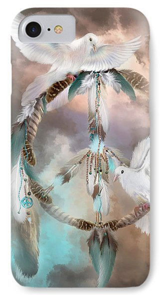 Dreams Of Peace IPhone 7 Case by Carol Cavalaris