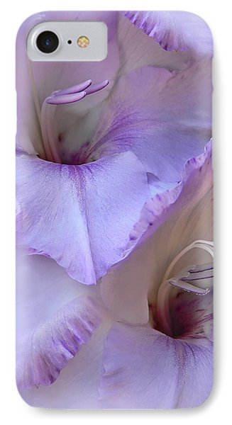 Dreams Of Purple Gladiola Flowers Phone Case by Jennie Marie Schell