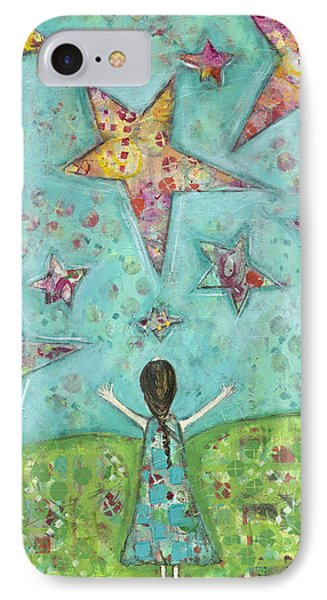 Dreams On Stars IPhone Case by Kirsten Reed