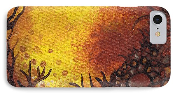 Dreamscape In Fall Tones #3 Of 4 Phone Case by Laura Noel