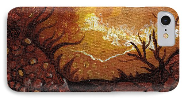 Dreamscape In Fall Tones #4 Of 4 Phone Case by Laura Noel