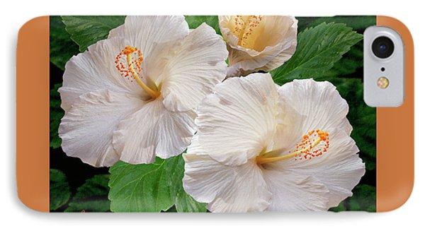 Dreamy Blooms - White Hibiscus Phone Case by Ben and Raisa Gertsberg