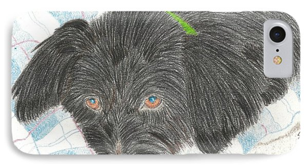 IPhone Case featuring the drawing Dreamy Della - Pencil by Sheila Byers