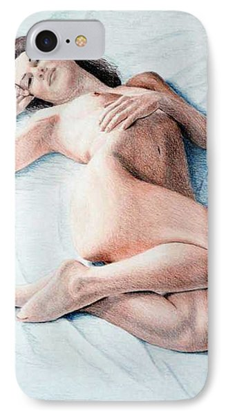 IPhone Case featuring the drawing Dreamy by Joseph Ogle