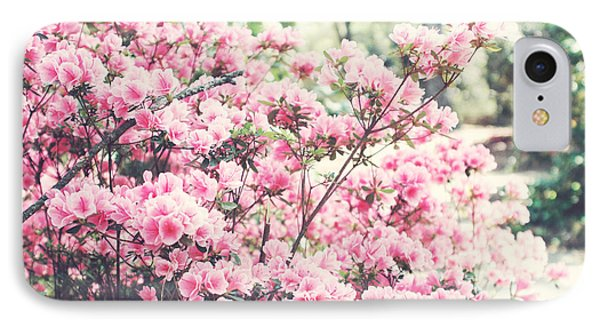 Dreamy Pink South Carolina Apple Blossom Trees - South Carolina Vintage Pastel Pink Blossoms Tree IPhone Case by Kathy Fornal