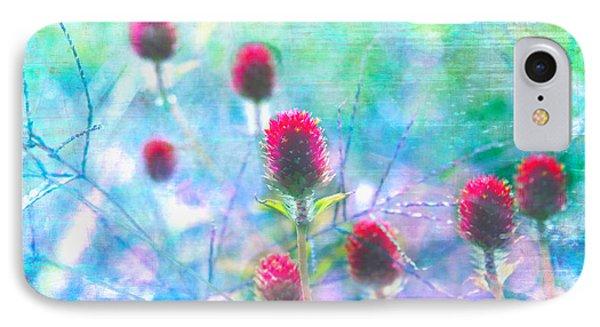Dreamy Red Spiky Flowers 2 Phone Case by Karen Stephenson