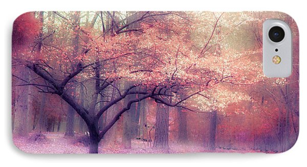 Dreamy Surreal Fall Autumn Ethereal Trees Nature Landscape South Carolina Nature Landscape IPhone Case by Kathy Fornal