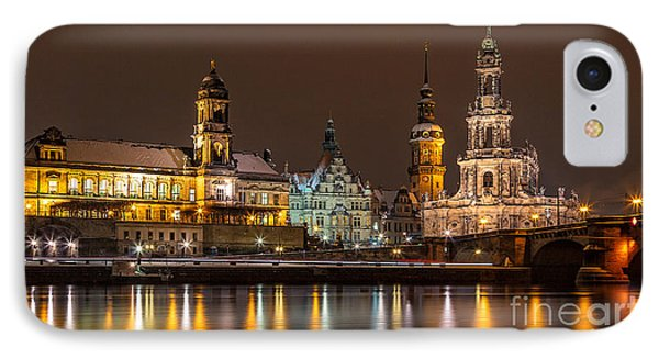 Dresden The Capital Of Saxony I Phone Case by Bernd Laeschke