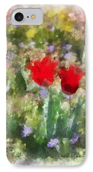 IPhone Case featuring the painting Dressed In Red  by Kerri Farley