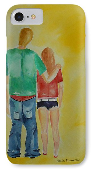 IPhone Case featuring the painting Dressing Down by Geeta Biswas