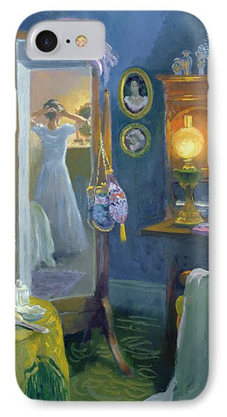 Dressing Room Victorian Style Oil On Board IPhone Case by William Ireland