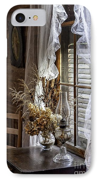 Dried Flowers And Oil Lamp Still Life Phone Case by Lynn Palmer