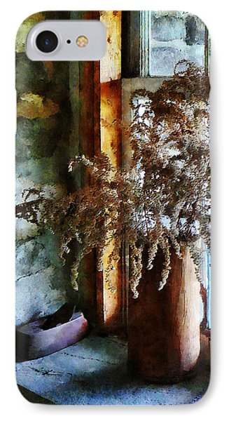 Dried Flowers On Windowsill Phone Case by Susan Savad