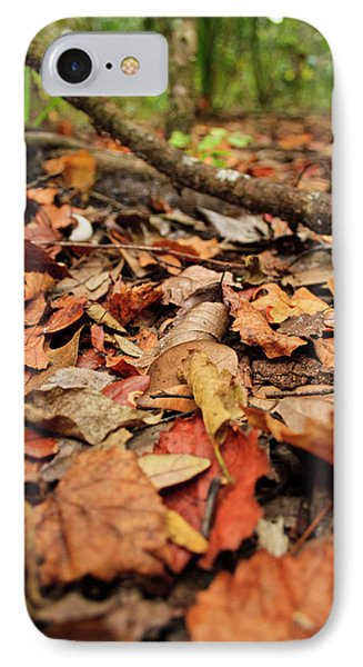 Dried Leaves On The Ground IPhone Case by � Marcela Montano - Vwpics