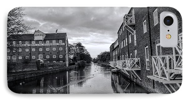 Driffield Refurbished Canal Basin IPhone Case by David  Hollingworth