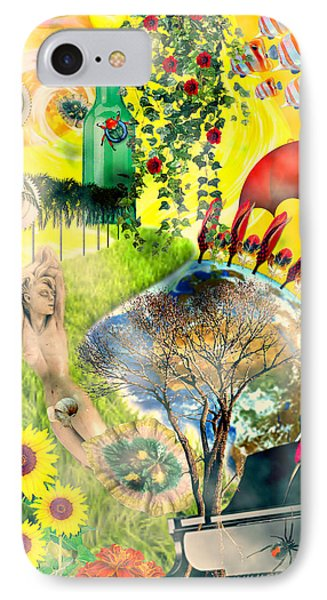 IPhone Case featuring the mixed media Drifting Away by Ally  White