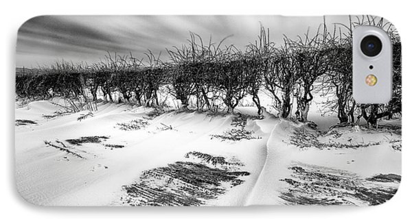 Drifting Snow IPhone Case by John Farnan