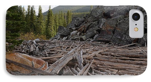 Driftwood And Rock IPhone Case by Cheryl Miller