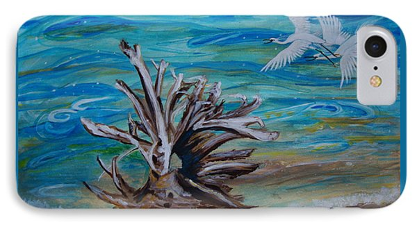 Driftwood On Lake Huron IPhone Case by Veronica Rickard
