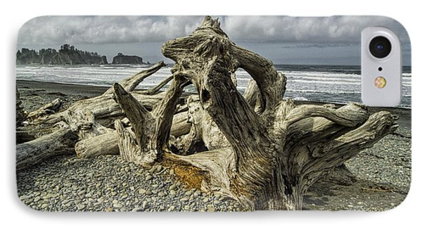 Driftwood On Rialto Beach In Olympic National Park No. 144 Phone Case by Randall Nyhof