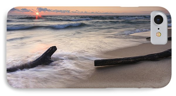 Driftwood On The Beach Phone Case by Adam Romanowicz