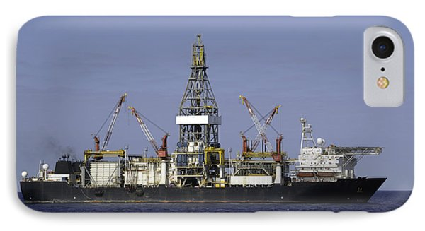 Drill Ship In Blue Ocean IPhone Case