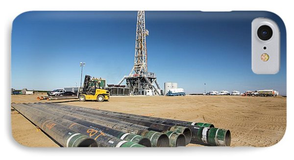 Drilling For Oil IPhone Case by Ashley Cooper
