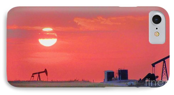 IPhone Case featuring the photograph Rising Full Moon In Oklahoma by Janette Boyd