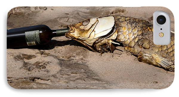 Drink Like A Fish IPhone Case by Richard Engelbrecht