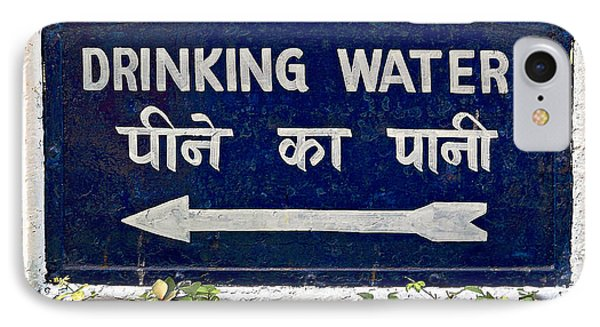 Drinking Water Sign Phone Case by Ethna Gillespie