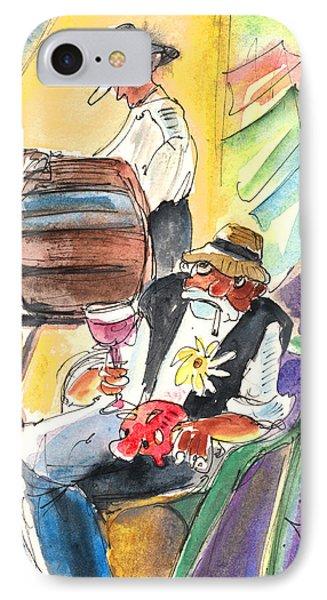 Drinking Wine In Lanzarote Phone Case by Miki De Goodaboom