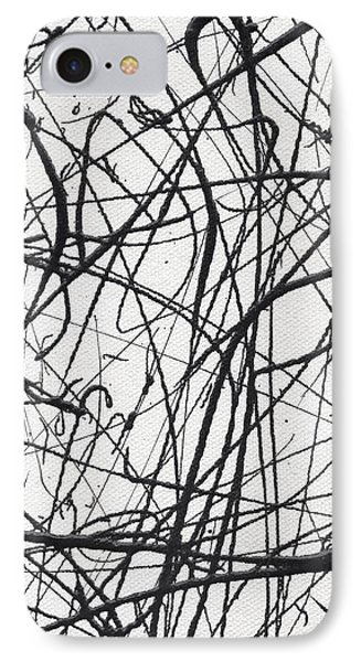 Drip Painting For Time's Up IPhone Case by Ismael Cavazos
