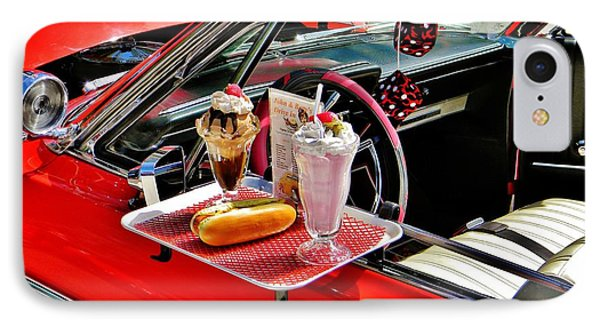 Drive-in Diner IPhone Case by Jean Goodwin Brooks