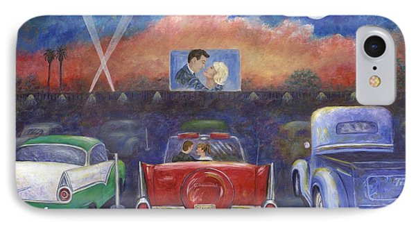 Drive-in Movie Theater Phone Case by Linda Mears