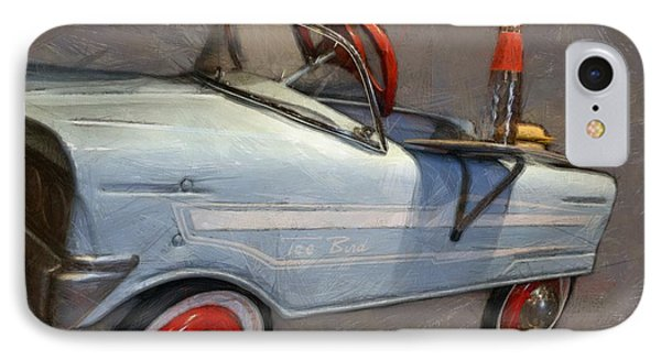 Drive In Pedal Car Phone Case by Michelle Calkins