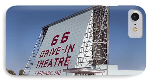 Drive-in. Rt.66 IPhone Case by Allen Beilschmidt