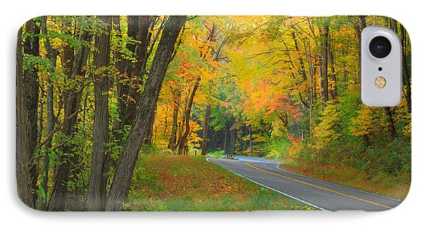 Driving Into Fall Phone Case by Geraldine DeBoer