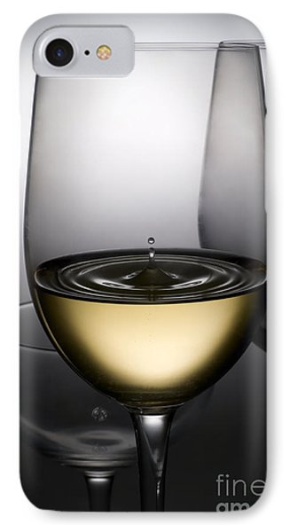 Drops Of Wine In Wine Glasses IPhone Case by Setsiri Silapasuwanchai