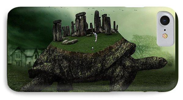 Turtle iPhone 7 Case - Druid Golf by Marian Voicu